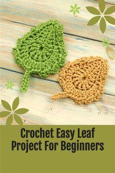 Crochet Leaf Free Pattern, Crochet Flower Patterns, Crochet Stitches Patterns, Crochet Motif, Crochet Flowers, Fabric Flowers, Crochet Ideas, Tunisian Crochet, Crochet Poppy