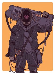 Post with 5873 views. Daft Punk // Cyberpunk ( Daftermath by Laurie Greasley ) Cyberpunk Aesthetic, Arte Cyberpunk, Character Concept, Character Art, Concept Art, Dm Poster, Posters, Thomas Bangalter, New Retro Wave