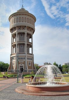 La Vieille Dame Water Tower in Szeged,, Hungary Beautiful Sites, Most Beautiful Cities, Cool Places To Visit, Places To Go, Travel Around The World, Around The Worlds, Hungary Travel, Heart Of Europe, Budapest Hungary