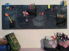 Proiect DIY – organizatoare decorative handmade din blugi vechi :: CasaDex – case, constructii, amenajari, decoratiuni