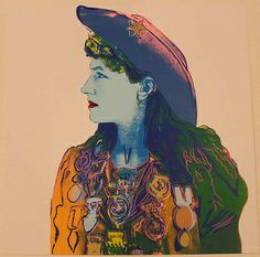 Andy Warhol (American, 1928-1987), Cowboys and Indians (Annie Oakley), 1986, Screen print,  Collection of the Tweed Museum of Art, Gift of the Andy Warhol Foundation for the Visual Arts, ©Andy Warhol Foundation for the Visual Arts, D2013.21.2
