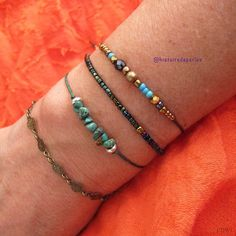 Different bracelets combined to make today's look // bracelets available at The ChakraFlower bracelet with turquoise gemstones is made by and available at Arm Party, Turquoise Gemstone, Costume Jewelry, Jewelry Accessories, Photos, Gemstones, Instagram, Bracelets, How To Make