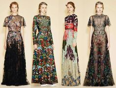 This 2017 wedding trend: tribal pattern wedding is inspired by artist Christi Belcourt's designs for the 2016 Valentino fashion show. Valentino Resort, Valentino Gowns, Spring Fashion, High Fashion, Fashion Show, Fashion Blogger Style, Couture, Embroidery Dress, Women's Fashion Dresses