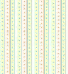 Morandi Sisters Microworld: Printable Wallpapers - Vertical Stripes With Big Flowers - Carte da parati Stampabili