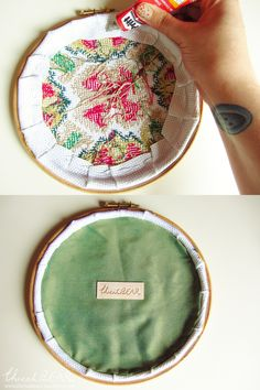 Applying the Backing Plate to an Embroidery Hoop Frame