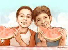 I carried a watermelon by maichan-art