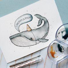 3,824 отметок «Нравится», 29 комментариев — Tania Samoshkina (@tania_samoshkina_art) в Instagram: «• whale congratulations • #samoshkina_art #illustration #illustrations #dailyart #art #artist…»
