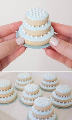 27 Spectacular Stacked Wedding Cake Cookies   we ❤ this!  moncheribridals.com  #weddingcookies #weddingdesserts