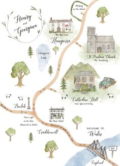 Illustrated welsh wedding map, Brecon Beacons An illustrated wedding map picturing the Brecon Beacons in Wales<br> Kids World Map, World Map Art, World Map Poster, Quirky Wedding Invitations, Illustrated Wedding Invitations, Wedding Stationery, Invites, Welsh Weddings, Map Pictures