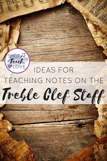 Ideas for teaching notes on the treble clef staff: apps, games, strategies and more for teaching students!