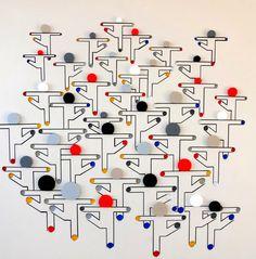 #3Dimensionaal #kunstwerk '#Dancing' van Theo Schouten is te koop via #Kunstmarktplaats.nl.  http://kunstmarktplaats.nl/ads/dancing/ #Abstract #kunst #art #mannen #3dimensional