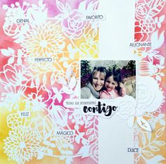 My Sweet Things: LAYOUT | Fondo con distress