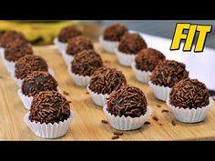 BRIGADEIRO FIT SEM AÇÚCAR E COM APENAS 3 INGREDIENTES - YouTube Nutella, Mini Cupcakes, Muffin, Healthy Eating, Low Carb, Breakfast, Sweet, Desserts, Food