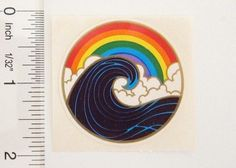 rainbow wave sticker Window Stickers, Sticker Paper, Decals, Symbols, Rainbow, Letters, Sunlight, Wave, Childhood