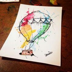 """Desenho feito por @cauens❤️ #balao #ballon #tattoo #tattoo2me #tatuagem #ink #inked #arte #art #drawing #draw #tatouage #Tatowierung #tatuaje…"""