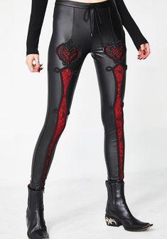184e3913b23ca Punk Rave Vampire Sweet Love Leather Gothic Leggings | Dolls Kill Gothic  Leggings, Punk Rave