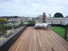 Glass Railing, Shower Doors, Rooftop, California, Green, Rooftops
