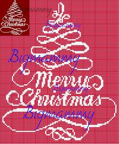 free cross stitch pattern Merry Christmas