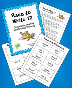 FREE Race to Write 12 from Laura Candler's Teaching Resources - terrific game for team building and class building! Can also adapt to curriculum for centers Team Building Activities, Classroom Activities, Classroom Ideas, Teaching Tools, Teaching Resources, Teaching Ideas, Too Cool For School, School Stuff, Curriculum