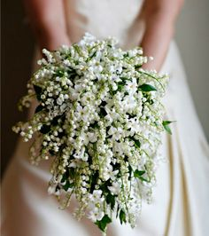 The French Tangerine: ~ Lily of the Valley Wedding bouquet. | More #White #Wedding Ideas at https://www.pinterest.com/FLDesignerGuide/white-wedding/