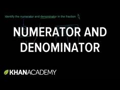 What are the numerator and denominator of a fraction? Fractions video on Khan Academy. Third Grade Math, Math Fractions, Student Teaching, Fun Math, Algebra, School Stuff, Nursing, Meant To Be, Classroom