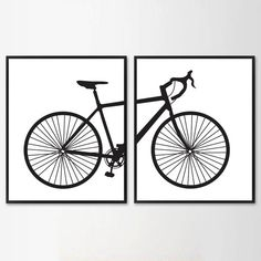 Scandinavian poster bicycle Minimalist Printable by WallArt2Decor