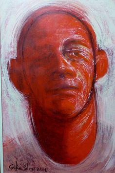Stefan Blom | 'a portrait' acrilic paint on canvas