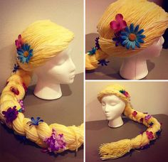 Holly Christensen, a mother of three and former oncology nurse in Alaska, crochets flowing wigs out of soft yarn for children who've lost their hair to chemotherapy in their battle with cancer. Each wig is modeled after the child's favorite Disney princess, which Christensen hopes will help them get through their difficult battle.