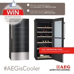 Winner to be announced in Jan WIN The freestanding 59 bottle wine cooler from AEG South Africa is perfect for Wine Auctions, Wine Deals, Wine Bottle Labels, Sparkling Wine, Beautiful Christmas, Wines, Locker Storage, Competition