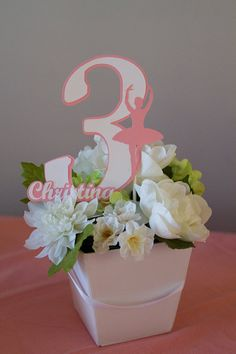 Pink Ballerina Centerpiece Topper by PinkPoppyPartyShoppe on Etsy, $10.00