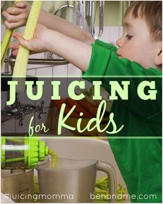 Juicing for Kids -- If your children have already developed a taste for sweet drinks, the easiest way to get them to begin drinking raw, fresh homemade juice is to include fruit in the juice. #juicing #juicingmomma