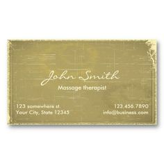 Idea - Old Paper Business Card for Coach