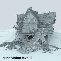 3d mountain hut snowy snow model - Mountain Hut Snowy... by FraP