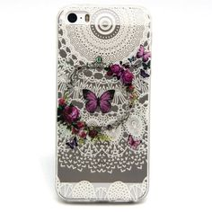 For iphone 5 case / iphone 5S case, ANGELLA-M Butterfly 3D Ultra-thin Silicone TPU Gel Bumper Cover Shock-Absorption  Anti-Scratch Clear Back Cover * Find out more about the great product at the image link.