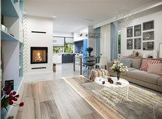 Projekt domu Tryton teriva 98,96 m2 - koszt budowy 207 tys. zł - EXTRADOM Design Case, House Plans, Dining Table, Furniture, Home Decor, Houses, Plants, Blueprints For Homes, Homemade Home Decor