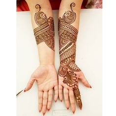 Work in progress - today's bride was an absolute darling. Latest Henna Designs, Stylish Mehndi Designs, Mehndi Art Designs, Bridal Mehndi Designs, Simple Mehndi Designs, Henna Tattoo Designs, Full Hand Mehndi Designs, Henna Tattoos, Bridal Henna