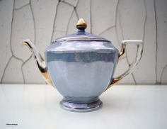 Vintage Lusterware P.A.L.T Made in Czecho-Slovakia Teapot by LittlemixAntique on Etsy
