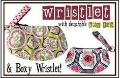 Download Wristlet & Detachable Key Fob and Boxy Wristlet Sewing Pattern | Handbags & Totes | YouCanMakeThis.com