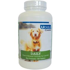 Uckele 120-Piece Canine Daily Chewable Tablet for Pets - You could find out more details at the link of the image. (This is an affiliate link and I receive a commission for the sales)