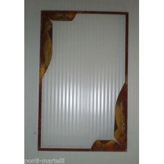 CORNICE design FERRO BATTUTO per Specchio o Foto . cm 60 x 95 . colore Finitura Ruggine . 849