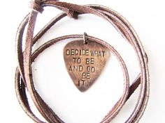 Guitar Pick Necklace with The Avett Brothers by WyomingCreative, $24.00