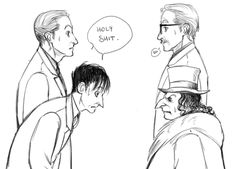 "gobblepot-art-and-ask-blog: "" Gobblepot week Day 6 - Future sorry I had not time to color it xD """