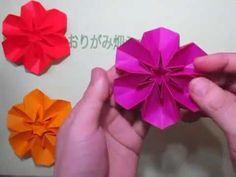 折り紙花の折り方作り方 創作 Origami flower