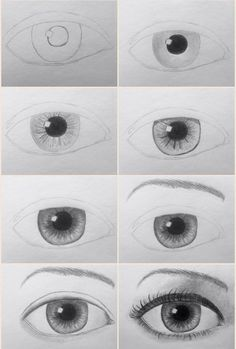 60 Ideas drawing people faces step by step eye tutorial Bts Drawings, Cool Drawings, Drawing Sketches, Pencil Drawings, Pencil Sketching, Realistic Eye Drawing, Nose Drawing, Step By Step Sketches, Step By Step Drawing