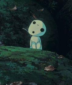 Kodama (tree spirit). These little guys are so odd, but I love them ...