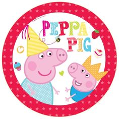 "8 Peppa Pig Red Birthday Party Disposable Large 9"" Paper Plates #Party"