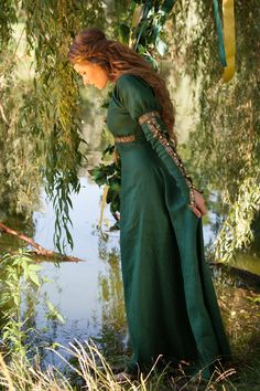 This may be my next perchase from PEARSONS. I love green & gold!!! (all the clothing from this shoppe is high quality and well made. Many of the gowns come is other colors, your choice.)