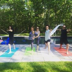 Poolside yoga! Living the L'ifestyle! #ashtanga #allfoodsfit #allbodiesfit #womenshealth #bodyclock #lifestyle #yoga #mindfulness #eatpraylove #cedrd #nyc #bodyaceptance #selflove #selfcare #bingeeatingdisorder #heal #meditation #wellness #yogagirl #healthyandhappy #yogameal #edrecovery #getfed #inspiration #destress #sleephygiene