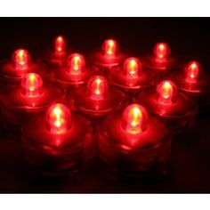 96 Pack of Red Submersible LED tea lights