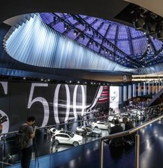 Exclusive reports and current films: experience a broad range of topics from the fascinating world of Mercedes-Benz. Screen Design, Frankfurt, Mercedes Benz, Stage, Display, Car, Floor Space, Automobile, Billboard